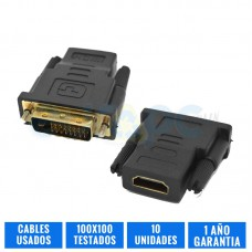 PACK 10 ADAPTADORES DVI-HDMI