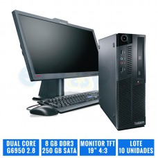 "LENOVO THINKCENTRE M90P SFF 8 GB DDR3 TFT 19"" 4:3"