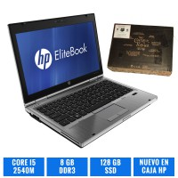 HP ELITEBOOK 2560P CI5 8 GB 128 GB SSD A ESTRENAR