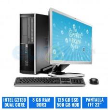 """HP 6300 PRO SFF G2130 8 GB DDR3 128 GB SSD TFT 22"""""""