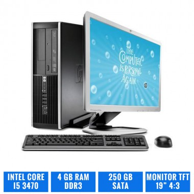 "LOTE 10 HP ELITE 8300 SFF CI5 3470 4 GB DDR3 CON TFT 19"" 4:3"