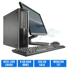 HP ELITE 8000 SFF C2D E8400 8 GB DDR3 TFT