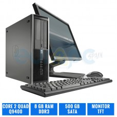HP ELITE 8000 SFF C2Q Q9400 8 GB DDR3 TFT