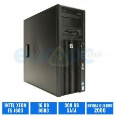 HP WORKSTATION Z420 E5-1603 16 GB DDR3 QUADRO 2000