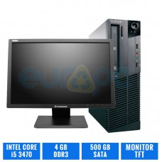 "LENOVO THINKCENTRE M92P SFF CI5 3470 8 GB DDR3 TFT 19"" 4:3"