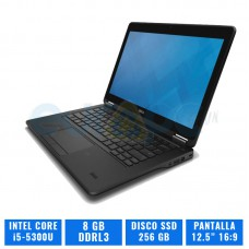 DELL LATITUDE E7250 CI5 E5300U 8 GB DDR3 256 GB SSD