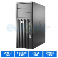 HP WORKSTATION Z200 I3 540 4 GB DDR3 QUADRO 2000