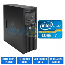 HP WORKSTATION Z230 CORE I7 4770 16 GB DDR3 QUADRO K2000